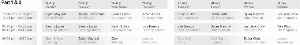 Schedule Part 1 & 2