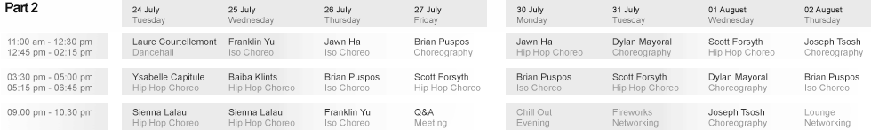 Week 2 Schedule