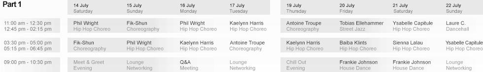 Week 1 Schedule